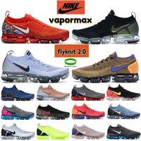 Nike Vapormax Flyknit 2.0 Homens Correndo Sapatos Preto Metálico Salto De Prata Gráfico Equipe Laranja Alunminum Gym Blue Mens Mulheres Designer Sneakers