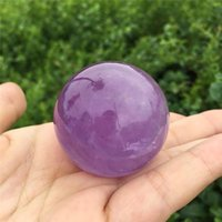 Decorative Objects & Figurines Natural Amethyst Quartz Sphere Pretty Crystal Ball Healing Stone