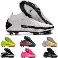 Orta Kesim Phantom GT Elite AG-Pro inanıyorum Erkekler Ayakkabı Yeşil Siyah Futbol Çizmeler Futbol Cleats