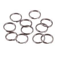 200 unids / lote 6 8 10 12 mm Oro Oro Anillos de salto abiertos Double LOOPS Conectores de anillos divididos para hallazgos de joyería que realizan suministros de bricolaje 789 T2