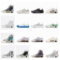 Обувь дизайнерские наклоны Технический кожа высокий низкий B23 B22 B24 цветы платформы 19ss старинные V53W # 14