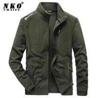 Veste de la molleton d'hiver de Chaifenko Winter Parka Coat Hommes Casual Bombardier Militaire Outwear Spring Épais Épais Chaud Tactical Armée Jacket Hommes 210901