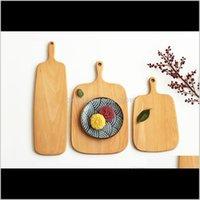 Ahşap Kesme Tahtaları Meyve Tabağı Tüm Ahşap Doğrama Blokları Kayın Pişirme Ekmek Kurulu Aracı Çatlama Deformasyonu H2SYV WXFRU