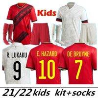 2021 2022 Junior Belçika Futbol Formaları De Bruyne Lukaku 21 22 Futbol Gömlek Tehlike Batshuayi Camiseta Futbol Kompany Dembele Maillot de fo