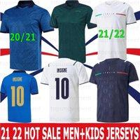 2021 2022 إيطاليا لكرة القدم الفانيلة إيطاليا Barella Sensi Insigne 20 21 22 Euro Euro Cup Chiellini Bernardeschi قمصان كرة القدم الرجال Kids Kit Oryms Home Away Jersey