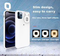 Casos protetores de celular com beleza LED Flash Light para iPhone 12 Prox Max PC Phone Telefone Voltar Suporte