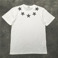 Summer new short men's round neck star Sanskrit print large white half sleeve fashion T-shirt