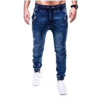 Jeans Sweatpants Marka erkek Moda Kargo Pantolon Çok Cepler Baggy Erkekler Pantolon Rahat Pantolon Tulum Joggers1