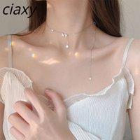 Collar CIAXY 925 Fleece de plata esterlina para mujeres Estilo de hadas Keybone Choker Joyery Party