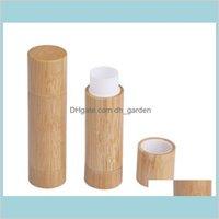 병 포장 사무실 학교 비즈니스 산업 대나무 DIY 디자인 빈 광택 컨테이너 립스틱 튜브 립 밤 화장품 포장 공동