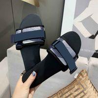 Brand Flat sandals women slippers Summer beach slipper lady Cartoon Big Head sandal Leather fashion woman shoes with box
