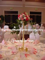 Gold Mental Wedding Candle Holder Set , Peacock Flower Holder,candle Stick Party Decoration
