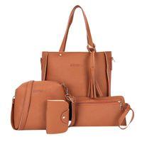 أكياس التخزين vip -4pcs / مجموعة أزياء المرأة بو سعة كبيرة محفظة حقيبة يد محافظ بطاقة كوين حزمة السيدات حقيبة الكتف