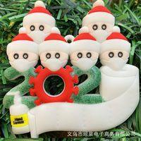 Christmas Hot 2021 new mask Christmas Snowman Christmas tree name DIY Pendant
