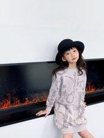 Kinder Mädchen Pullover Pullover Kleid Baby Mädchen Warme Baumwolle Gestrickte Pullover Kinder Langarm Kleider