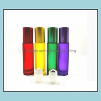 Jars Housekee Organization Home & Gardencolors 10Ml Roller Ball Bottlesmatte Color Storage Bottles Glass Refined Oil Per Emptys Bottle Zc456