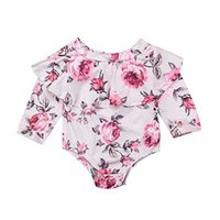 vieeoeeeeease 여자 꽃 얇은 얇은 루미퍼 아기 의류 가을 귀여운 긴 소매 연꽃 잎 칼라 jumpsuits rompers ee-710