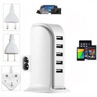 허브 유니버설 5 다중 포트 USB 벽 여행 충전기 데스크탑 허브 충전 스테이션 EU US 플러그 어댑터