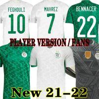 Mahrez 2021 2022 Algeria Soccer Jerseys fan giocatore Versione 21 22 Atal Slimani Brahimi Home Away Bennacer Football Shirts Maillot deled