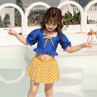 Two-piece Suits Child Short Sleeve Ruffle Beachwear Bikini Set Swimming Costume Bathing Suit Girls Cute Princess Swimsuit Kid Baby Lace Swim
