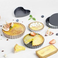 Cake Pan Removable Tart Nonstick Pizza Quiche Flan Mold Round Pie Muffin Mould For Baking Form Bakeware Oven Tray 25# & Pastry Tools