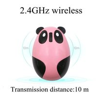 マウスのコンピューターのマウス選手の女の子漫画ピンクの無線USB光Mute 1200dpi Pandaデザインノートの小さい