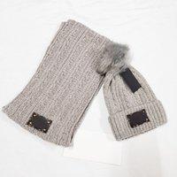 Winter Beanie chapéu lenço conjunto para mulheres homens de malha ao ar livre lenços quentes chapéu luvas de tela de toque conjuntos de eslájas
