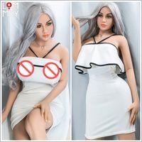 Lommny real bonecas de silicone beleza itens robô japonês anime amor boneca realista brinquedos vida para homens muito grande peito sexy mini vagina adulto