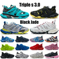 2021 TOP TRIPLE S 3.0 Chaussures de course Noir Jade Blanc Jaune Jaune Navier Royal Grey Trainer Lime Hommes Femmes Sneakers US 6-12