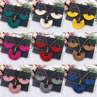 Quaste Ohrringe Halskette Set Handmade Multicolor Böhmische Frauen Ethnische Kreis Schmuck Set GD503 883 R2