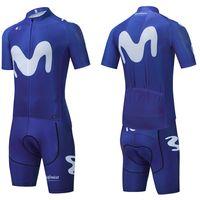 Hommes 2021 maillot de cyclisme MOVISTAR 20D shorts de vélo MTB Maillot chemise de vélo Downhill Pro Vêtement de vélo Vélo