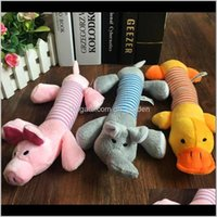 Chews Supplies Home Garden Drop Delivery 2021 Cute Dog Toy Puppy Plush Sound Chew Squeaker Squeaky Pig Elephant Duck Lovely Pet Toys Dc318 Dh