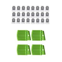 24x-Dirt-Entsorgungsbeutel für E5, E6, I7, I7 +, I7 4PC Webstoff-Roboter S9 E5 E6-Silikon-Schalldämpfungsstaubsauger
