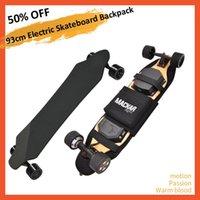 93cm skate elétrico mochila 37inch terra surfando placa de peixe ajustável saco de dobrável longboard placa plana dupla balancim sacos skateboardin