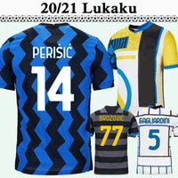 20 21 Lukaku Alexis Mens Soccer Jerseys Brozovic Kolarov D 'Ambrosio Home Aawy 3rd Camicia da calcio Skriniar Vecino Perisic Manica corta