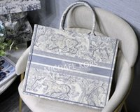 2020 Neue Stickerei 3D Dreidimensionale Tiger Muster Große Kapazität Luxus Große Marke Einkaufstasche Handtasche Handgemachte doppelseitige Blume
