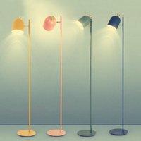 Postmodern Endüstriyel Stil LED Zemin Lambası Işık Lüks Yaratıcılık Kısa Yatak Odası Fuaye Lambaları Için Macaron Standı