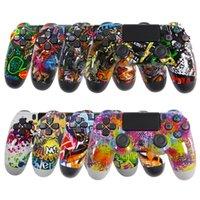 Neuerer Bluetooth Wireless Controller für PS4 Vibration Joystick Gamepad Game Griff Controller für die Play-Station mit Logo-Einzelhandelspaket