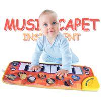 Teclado musical Playmat bebê crianças toque tocar piano música tapete tapete tapys A0521