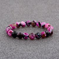 Women&Men Bracelets Classical Colorful Natural Stone Beads C...