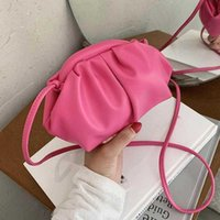 Evening Bags 2021 Summer One-shoulder Diagonal Women's Bag Fashion Cool Large-capacity Casual Outing Dumpling Candy Color Trend
