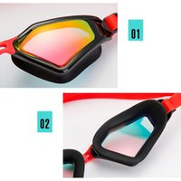 남성 여성 전문 전기 도금 방수 수영 안경 안개 UV 보호 수영 고글 실리콘 다이빙 안경 SQCQRE HJFeeling