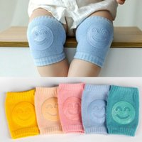 120pairs Baby Knee Pads Textile Non Slip Infants Smile Knee-Pads Newborn Crawling Elbow Protector Leg Warmer Kids Safety Kneepad Boys Girls Socks LSK333