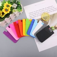 Double-deck Silicone Cases Wallet Card Cash Portable Pocket Sticker 3M Glue Adhesive Stick-on ID Holder Pouch For iPhone Samsung Huawei XiaoMi Mobile Phone