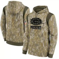 Männer Frauen Jugend Green Bay Hot Style Packer Hoodies Sweatshirt Camo 2021 22 Great to Service Therma Performance Pullover Hoodie