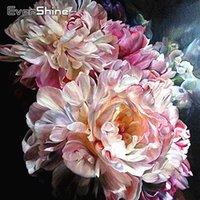 Diamond Mosaic Flowers Cross Stitch Pittura Diamante Piena Drill Square Peonia Immagine di Strass Diamond Ricamo