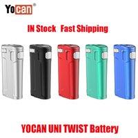 원래 YoCan Uni 트위스트 박스 Mod 650mAh 예열 VV 배터리 510 두꺼운 오일 Vape 모든 폭 카트리지 분무기 카트 ECIG 대 Uni S Pro 100 % 정통
