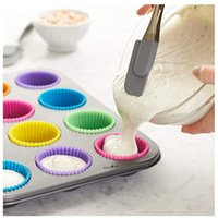 7cm Silica gel Liners baking mold silicone muffin cup baking cups cake cups cupcake kitchen baking tool NHA7467