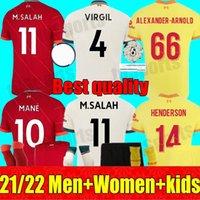 21 22 Erwachsene Männer Frauen Kids Kit Mohamed LVP M.Salah Firmino Fussball Jerseys 2021 2022 Torwart Virgil Mane A.Becker Alexander Arnold Henderson Diogo J. Football Hemden
