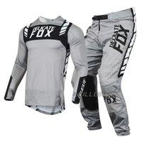 Hassas Tilki Flexair Mach MX Combo Jersey Pantolon Motocross Dirt Bike Dağ MTB DH SX ATV UTV Sürme Dişli Seti